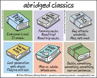 Mystery Fanfare: Cartoon of the Day: Abridged Classics