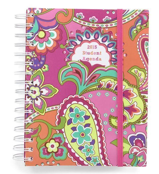 NWT Vera Bradley 2015 Student Agenda 13 Month Day Planner - Pink Swirls #VeraBradley