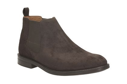 Clarks Chilver Top - Dark Brown Suede - Mens Formal Boots   Clarks