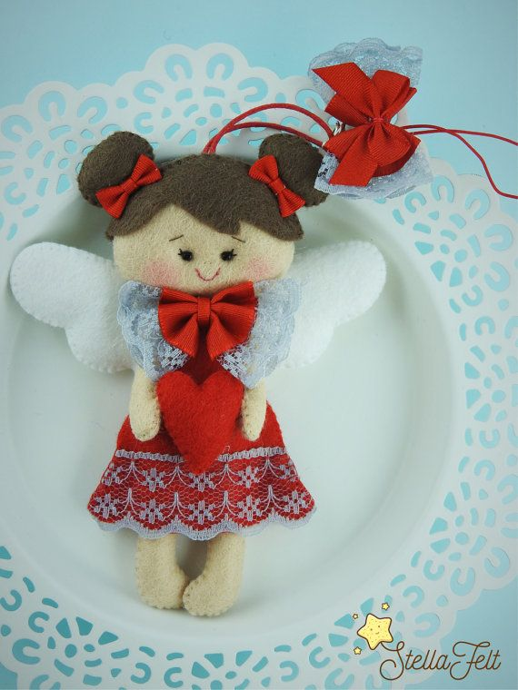 Angel of love and caring - decoration - gift for newborns - nursery decors - wall decor