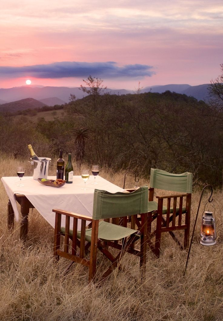 A lovely meal in AFRICA?  Yes, please.  Camp Figtree - Addo National Park, South Africa