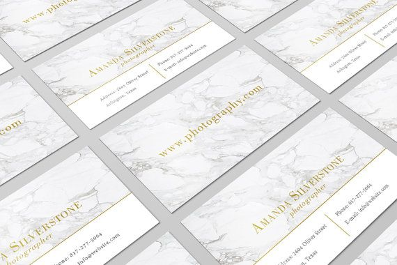 Marble Golden Business Card Design / Modern Business Card / Pre-made Business Card / Business Card Template / Fashion Business Card