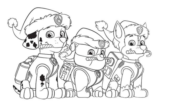 Coloring Pages Paw Patrol Paw Patrol Coloring Pages Paw Patrol Christmas Paw Patrol Coloring