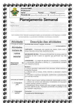 Ficha para o planejamento diário semed de simone helen drumond                                                                                                                                                                                 Mais