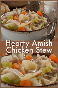 This Hearty Amish Chicken Stew is full of good old-fashioned flavor, and cooks up in just one pot!