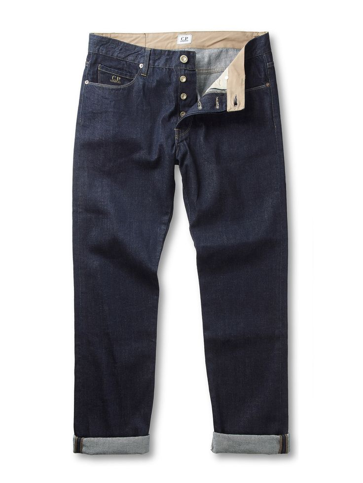 Slim Fit Rinse Wash 12.5 Oz Denim Jeans in Dark Blue