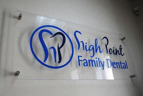 High Point Family Dental Wall Logo Sign