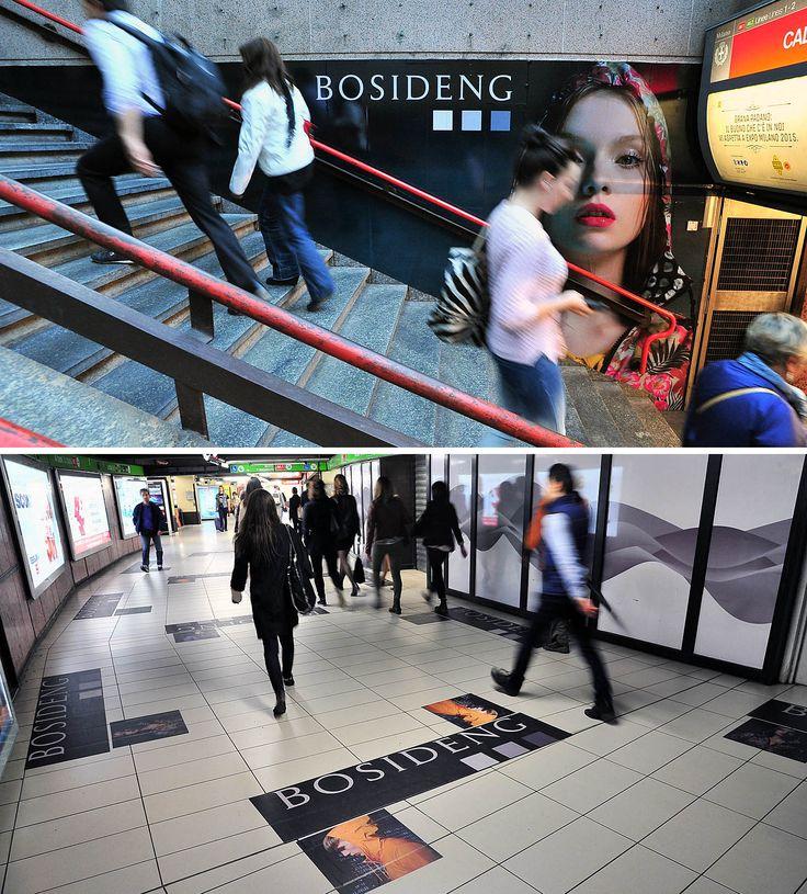 On your way…my way.  #BosidengItaly #GuerrillaADV at Milano Cadorna subway station!