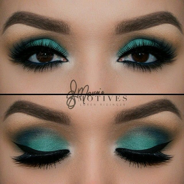 """We are obsessed with this green look by @elymarino using ALL #Motivescosmetics PERFECTION LIKE to see a Step by Step…"""