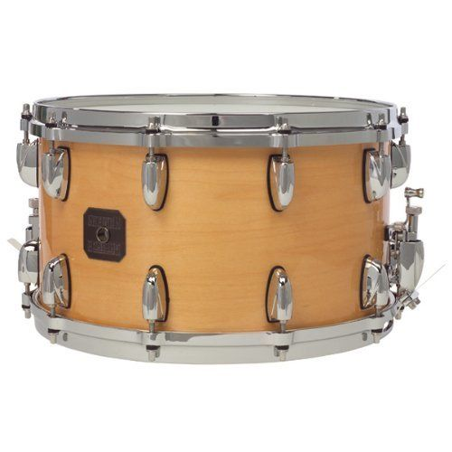 "Gretsch 8"" x 14"" Maple Snare Drum by Gretsch. $439.59. The 10-ply Maple snares feature a 100% Maple shell with Gretsch silver sealer, Die Cast hoops, Evans drum heads, and adjustable throw-off."