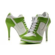 Nike Dunks Laarzen Hoge Hakken Sport Footwear WIt Groen Nike Dunks