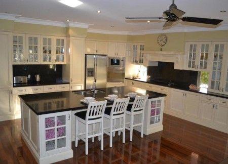 Inspirational Granite Country l Shaped Kitchen Design Kitchen
