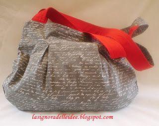 La Signora delle Idee: Red and Grey Bag reversible