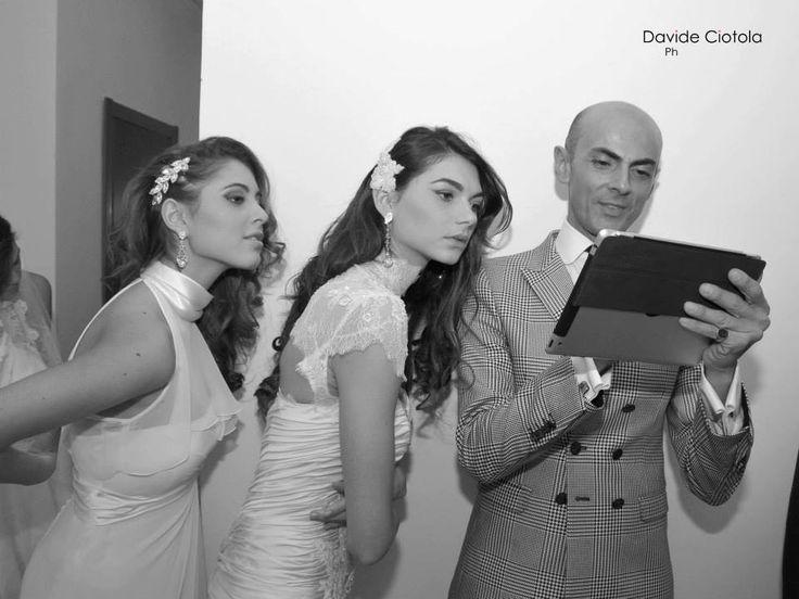 #enzomiccio #models #sfilate #dress #bridale #fashion #backstage @Enzo_Miccio