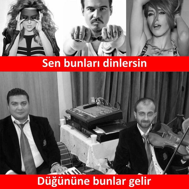 Sen bunları dinlersin, Düğününe bunlar gelir... :) #düğün #gelin #damat #orkestra #müzik #müzisyen #türkü #şarkı #pop #popçu #sanat #sanatçı #demetakalın #erdemkınay #handeyener #mizah #matrak #komik #espri #şaka #gırgır #komiksözler #sözler #anlamlısözler #güzelsözler #manalısözler #özlüsözler #şiir #edebiyat