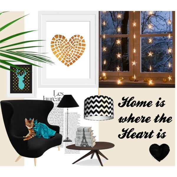 Home is where the Heart is by inogitnadesigns on Polyvore featuring interior, interiors, interior design, home, home decor, interior decorating, Tom Dixon and Lene Bjerre