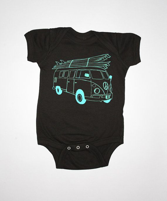 Surf Bus Baby One Piece By Feather 4 Arrow Surf by Feather4Arrow