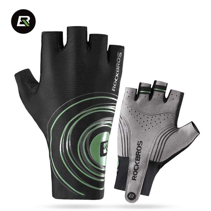 ROCKBROS 2017 Half Finger Gloves Men Road Bike Gloves Anti Slip Gel Pad Bicycle MTB Road Bike Cycling Gloves Size S-XL 2 Colors