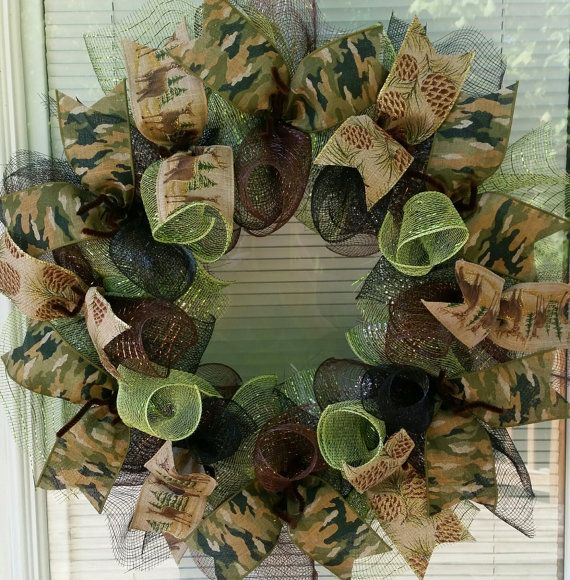 Woodland Wreath Forest Wreath Deer Wreath Lodge by WreathsByRobyn