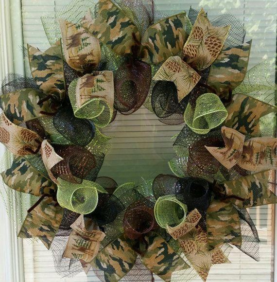 Woodland Wreath Forest Wreath Deer Wreath Lodge by WreathsByRobyn