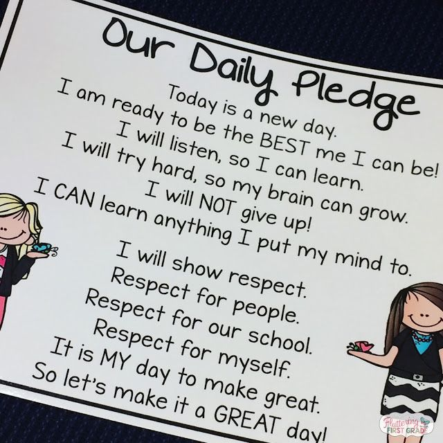 Our Daily Pledge - Responsibiliy in the Classroom