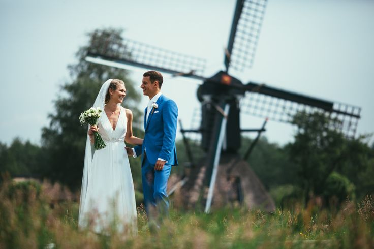 #dutchwedding #groom #bride #bruid #bruidegom #may #2016 #denAlerdinck #nature #molen #mill #flowers #countryside Photo by Sjoerd Banga, © Banganimation