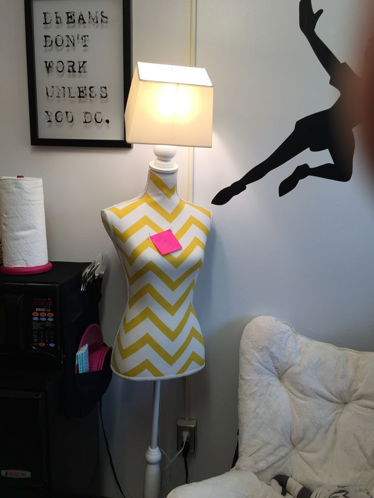 Dorm Room Designs, University. Bust Turned Into A Lamp   Bulletin Board / Floor  Lamp   Space Saving Idea Designed Part 74