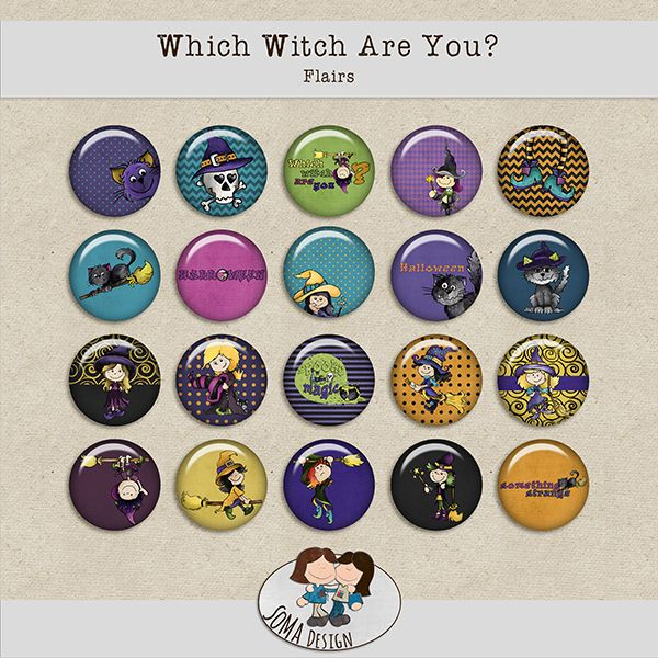 SoMa Design: Which Witch Are You? - Flairs