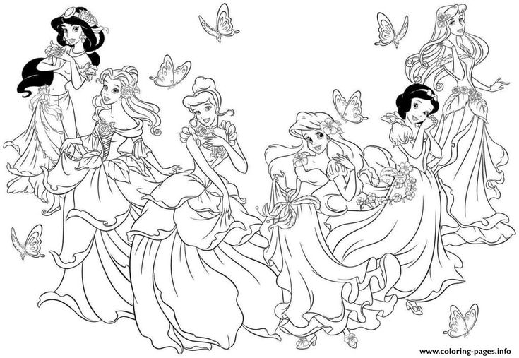 Print All Disney Princesses Coloring Pages