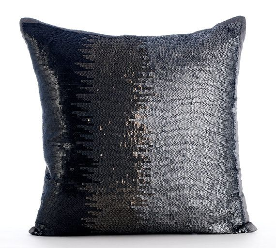 10% THANKSGIVING SALE Dark Knight Of Soul - This Steel Silver Sequins Embroidered Pillow Cover will blow you away. Buy Now!
