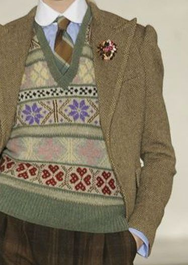 Knitted Vest Colorwork