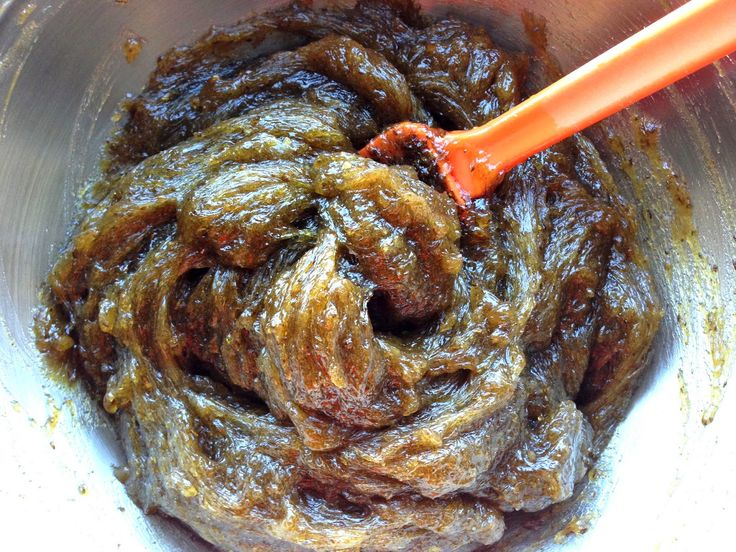 Beldi, or Moroccan black soap made using the glycerin method.