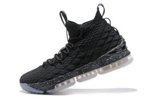 53d36ca3136 Mens Nike Lebron 15 XV Triple Black Basketball Shoes