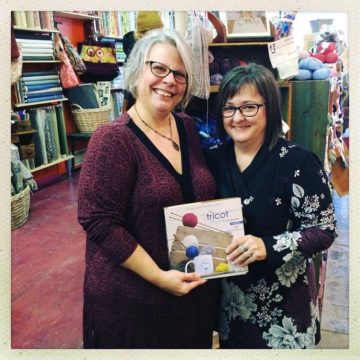 Photo par Jésabelle B., Travavaux d'Aiguilles lors du lancement de notre livre, dans la belle boutique Éffiloché