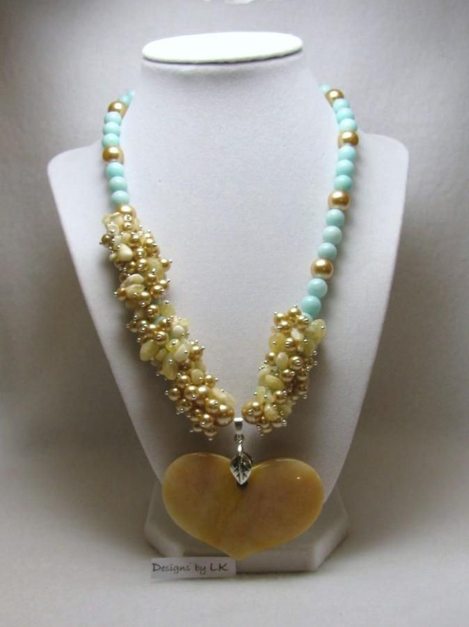 Honey Jade - Jewelry creation by Linda Foust
