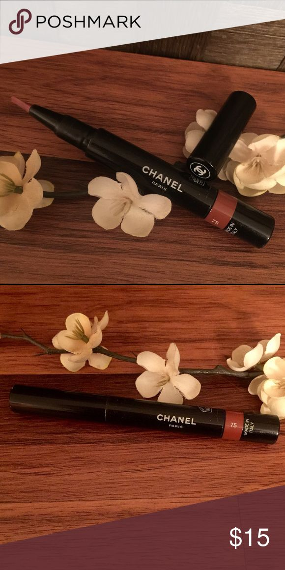CHANEL Creme Gloss Lumiere Chanel Creme Gloss Lumiere. Plum Squffle 75. Made in Italy. Used 3 times. CHANEL Makeup Lipstick