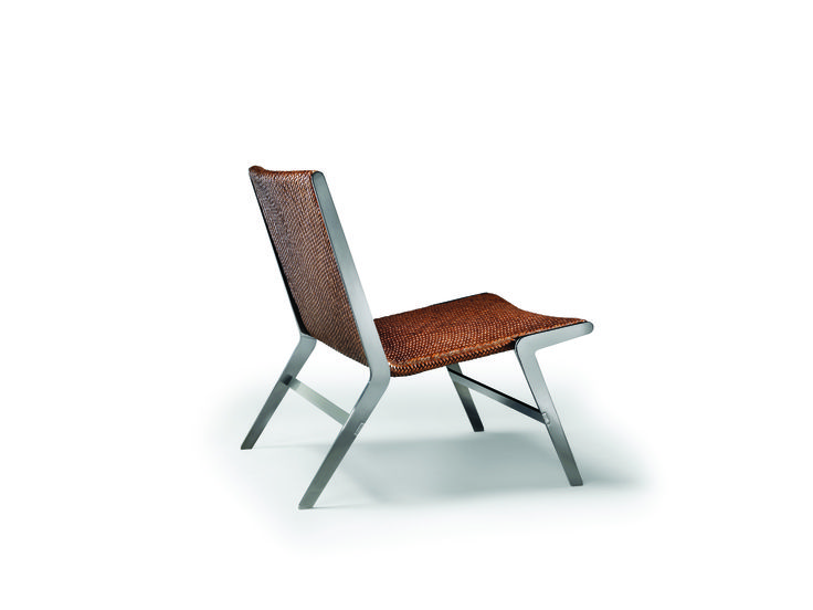 FLEXFORM HELEN #armchair with metal base designed by Antonio Citterio.