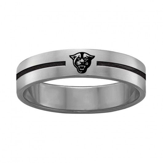 Georgia State University Panthers Stainless Steel Ring | Single Line Style
