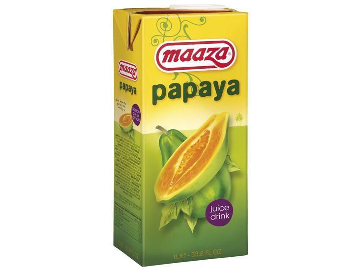 Maaza is het Indiase woord voor genieten en zo kan de drinkbeleving van deze drank ook het beste omschreven worden. Dit sap bevat geen kunstmatige toevoegingen en is gemaakt van natuurlijk vruchtenmoes. Met Maaza Papajasap ervaart u de exotische fruitige smaak van de papaja. Papaja heeft een mild zoete smaak die doet denken aan een mengeling van peer, meloen en framboos. Als dorstlesser of voor in de cocktail - Maaza Papajasap is puur drinkgenot!