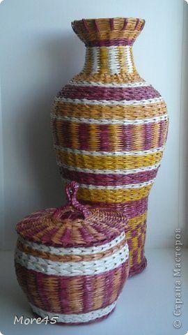 Поделка изделие Плетение Январь Трубочки бумажные фото 3
