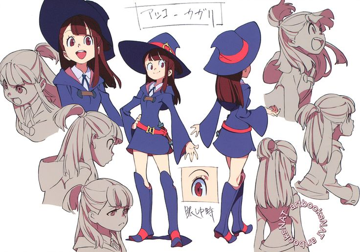 artbooksnat:     Little Witch Academia (リトル ウィッチ アカデミア)    Full-color character…