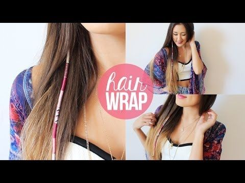 This chick talks a little too much but it's a clear example.  DIY: Summer Hair Wrap | LaurDIY - YouTube