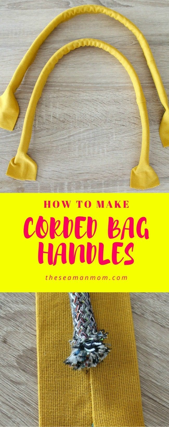 CORDED BAG HANDLES SEWING TUTORIAL -Learn how to sew sturdy handles for handbags… – Easy Peasy Creative Ideas
