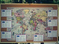 world map seating plan
