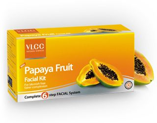 "Papaya, often referred to as the ""fruit of the angels"" is a rich source of an enzyme called ""papain"" and vitamin A, which together help in breaking down inactive proteins and thereby sloughing off dead skin cells. It also hydrates the skin and maintains its oil balance. In combination with other fruit and vegetable extracts like watermelon, peach, orange and cucumber, this papaya-enriched facial kit helps achieve a blemish-free, radiant complexion."