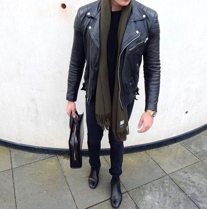 stylish Mondays // urban men // mens fashion // leather jacket // mens bag // boys // denim //