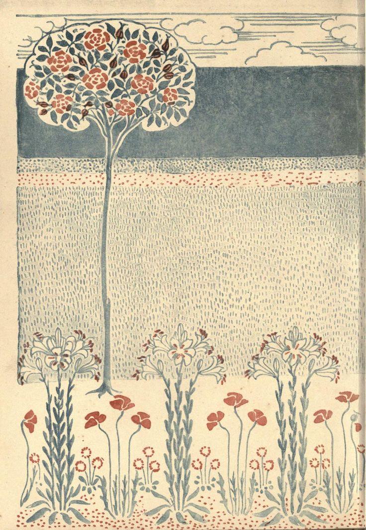 A floral fantasy in an old English garden, Walter Crane