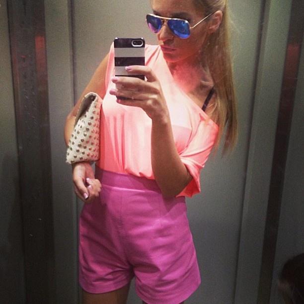 [ @ ] lesyanebo Красавица @borodylia сегодня порадовала луком от Studionebo .. Персиковый топ и розовые шорты из кожи . Read more at http://web.stagram.com/p/452904026436626419_24976624#qvDIkmuch9XS7KG7.99