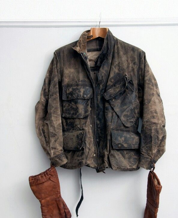 vintage Barbour motorcycle Jacket