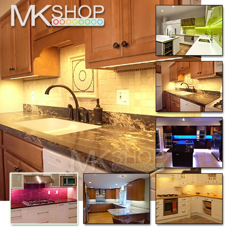 UNDER CABINET COUNTER KITCHEN LED STRIP LIGHT KIT YELLOW